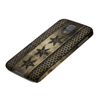 Faux Grungy Metal Chicago Flag Case For Galaxy S5