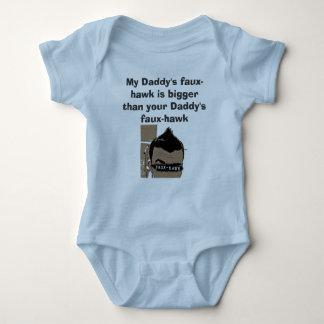 Faux-hawk_FLAT, My Daddy's faux-hawk is bigger ... Baby Bodysuit