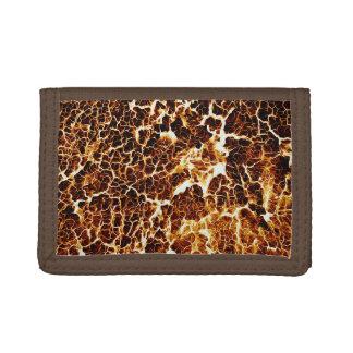 Faux Hot Lava Texture Trifold Wallet
