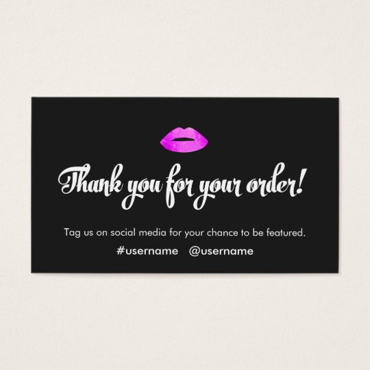 Faux Hot Pink Foil Kissing Lips Promotional Business