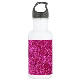 Faux Hot Pink Glitter 532 Ml Water Bottle