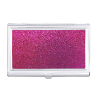 Faux Hot Pink Glitter Background Sparkle Business Card Holder