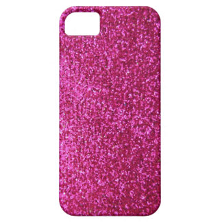 Faux Hot Pink Glitter Barely There iPhone 5 Case