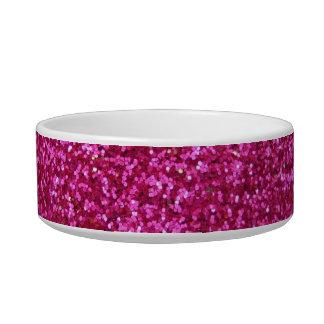 Faux Hot Pink Glitter Bowl