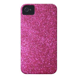 Faux Hot Pink Glitter Case-Mate iPhone 4 Case