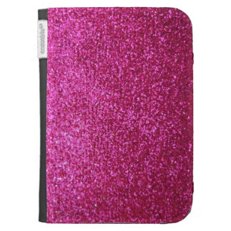 Faux Hot Pink Glitter Kindle Keyboard Case