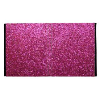 Faux Hot Pink Glitter iPad Folio Cover