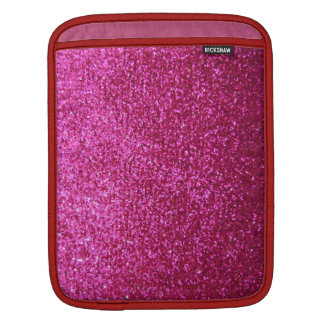Faux Hot Pink Glitter iPad Sleeve