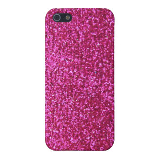 Faux Hot Pink Glitter iPhone 5 Covers