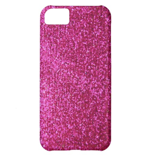 Faux Hot Pink Glitter iPhone 5C Cases