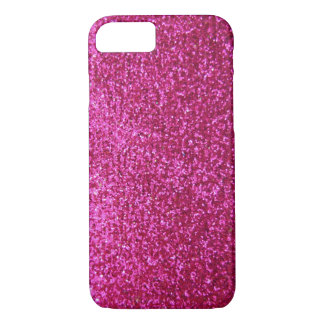 Faux Hot Pink Glitter iPhone 8/7 Case