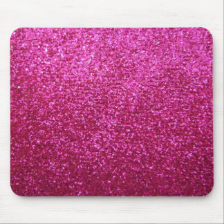 Faux Hot Pink Glitter Mouse Mat
