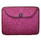 Faux Hot Pink Glitter Sleeve For MacBook Pro