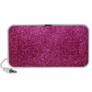 Faux Hot Pink Glitter Travel Speaker