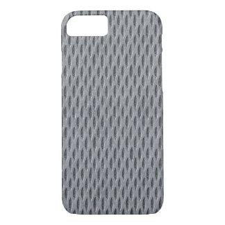 Faux Industrial Metal Grid Pattern iPhone 7 Case