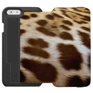 Faux Jaguar Fur Spots Big Cat Incipio Watson™ iPhone 6 Wallet Case