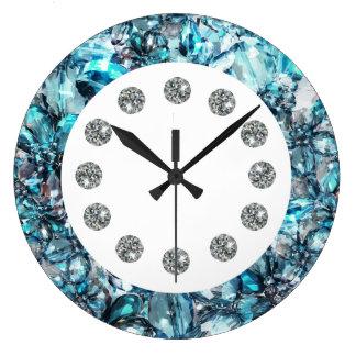 Faux Jewel Bling Wall Clock