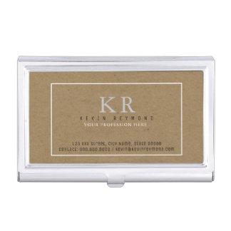 faux kraft brown presentation-card elegant business card holder