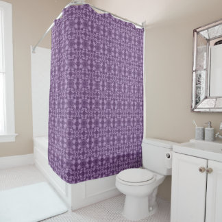 Faux Lace Purple And Lavender Pattern Shower Curtain