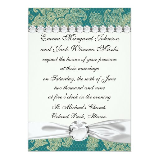 faux lace teal and cream floral damask pattern