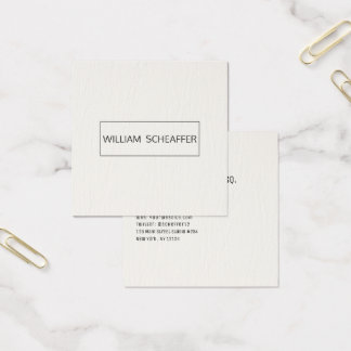Faux Leather Attorney Professional Modern Minimal Square Business Card