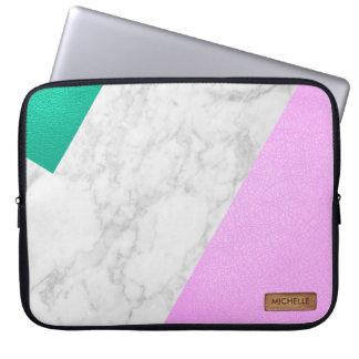 """Faux Leather Neoprene Laptop Sleeve 15"""""""