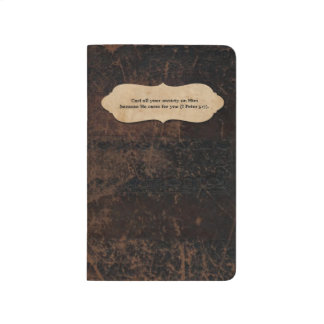 Faux Leather Personalized with Scripture Journal