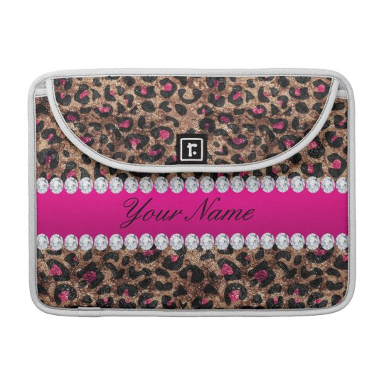 Faux Leopard Hot Pink Rose Gold Foil and