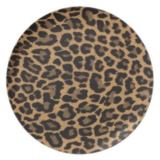 faux leopard print plate