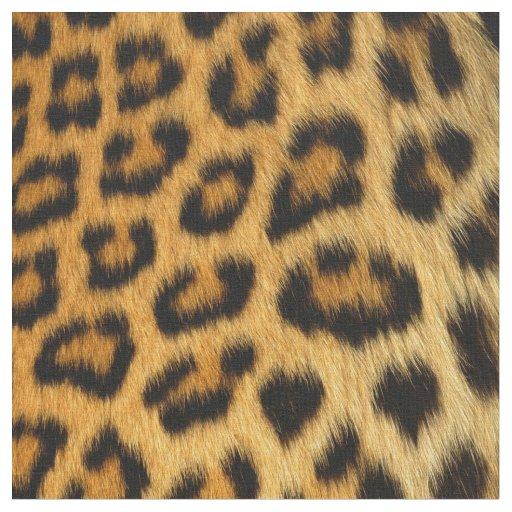 Faux Leopard Spots Fur Fabric