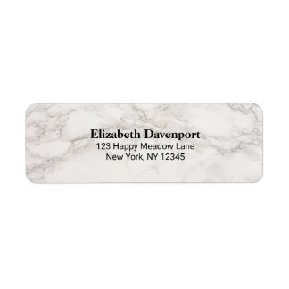 Faux Marble Alabaster Taupe Tan Abstract Return Address Label