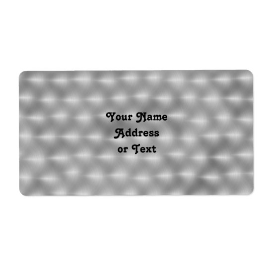 Faux Metal - Brushed Steel Shipping Label