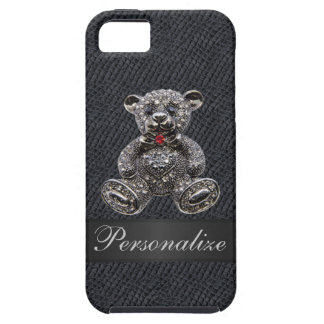 Faux Metal Teddy Bear Personalized iPhone 5 Case