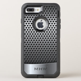 Faux Metallic Pattern custom monogram phone cases