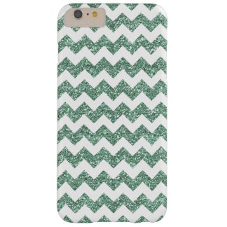 Faux Mint Glitter Chevron Pattern White Solid Barely There iPhone 6 Plus Case