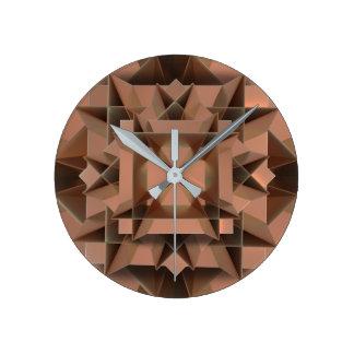 Faux Modern Copper Round Wall Clock