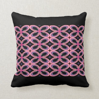 Faux Neon Pink Flower Power 2 Throw Pillow