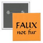 FAUX, not fur Buttons
