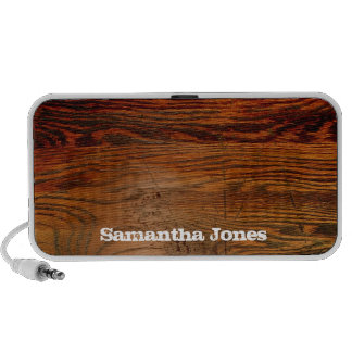Faux Oiled Wood Plank Personalized Custom iPod Speakers