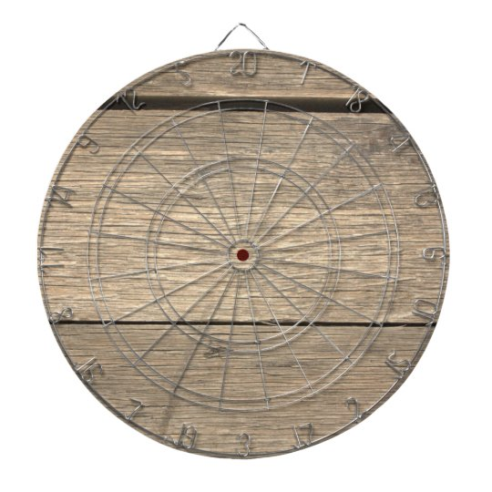 Faux Old Wooden Barrel Dartboard