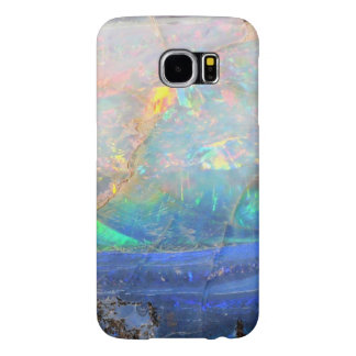 Faux opal gem gemstone mineral bling bokeh hipster samsung galaxy s6 cases