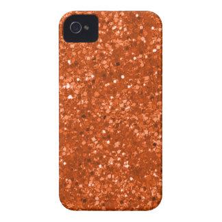 Faux Orange Glitter Case-Mate iPhone 4 Case