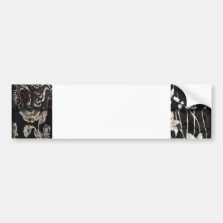 Faux Patchwork Quilting - Black and White Bumper Stickers