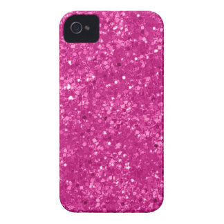 Faux Pink Glitter iPhone 4 Case-Mate Cases