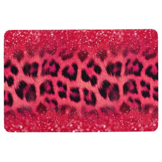 Faux Pink Glitter Leopard Spots For Teen Girls