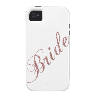 Faux Pink Sparkles Bride iPhone 4/4S Covers