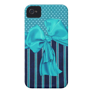 Faux Poka Dots,Stripes,Ribbons & Bows IPhone Case iPhone 4 Case-Mate Case