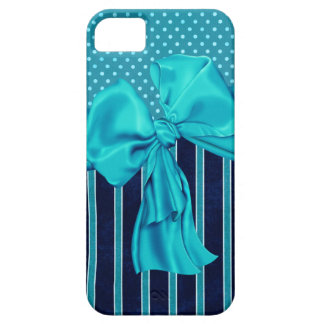 Faux Poka Dots,Stripes,Ribbons & Bows IPhone Case iPhone 5 Cases