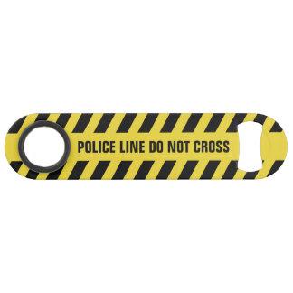 Faux Police Line custom text bottle opener