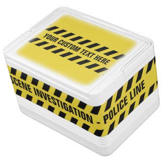 Faux Police Line custom text coolers Igloo Cool Box